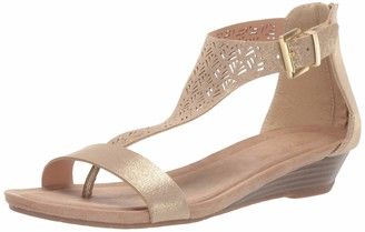 Kenneth Cole Reaction Women's Great City 3 T-Strap Low Wedge Sandal
