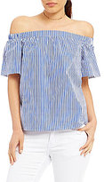 Soulmates Off-The-Shoulder Striped Top