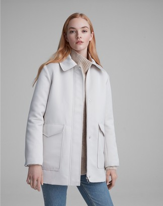 Club Monaco Padded Satin Puffer