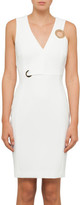 Versace Slim Fit Dress With Eyelet Detail