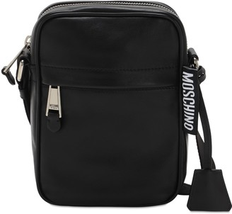 Moschino Logo Label Leather Camera Bag