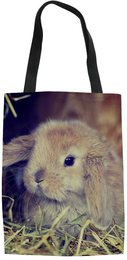 a741c1015376 HUGS Lop Rabbit Pattern Storage Bags Reusable Ecofriendly Girls' Shoulder  Bag Canvas Tote Bag for Grocery Shopping