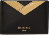 Balmain Black Geometric Card Holder