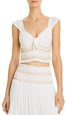 Surf.Gypsy Smocked Ruffled Top Swim Cover-Up