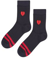 Sporty emoji heart badge socks