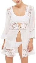 Topshop Women's Lace-Up Cover-Up Caftan