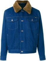 Ami Alexandre Mattiussi lined denim jacket - men - Cotton/Sheep Skin/Shearling - M
