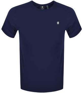 G Star Raw Lash Logo T Shirt Navy