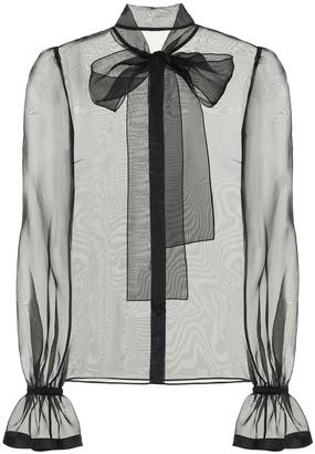 Dolce & Gabbana Sheer silk-organza blouse