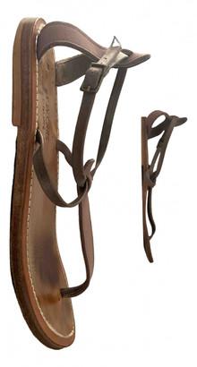 K. Jacques Buffon Grey Suede Sandals
