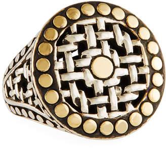 John Hardy Mixed Metal Dot Ring, Size 7
