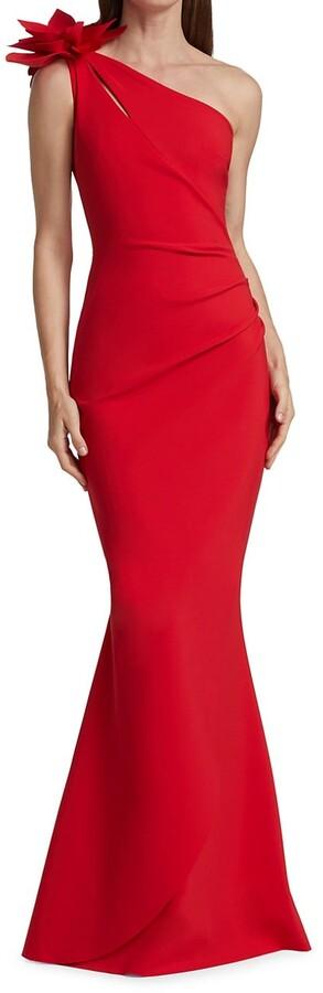 Chiara Boni Gosia One-Shoulder Gown