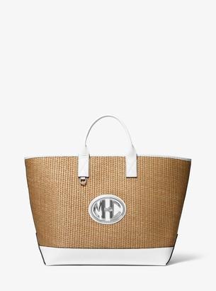 Michael Kors Monogramme Woven Tote Bag