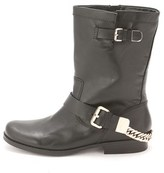GUESS Womens Girton Leather Closed Toe Mid-calf Motorcycle Boots.