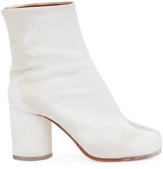 Maison Margiela Tabi Hand-Painted Canvas Ankle Boots