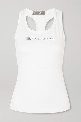 adidas by Stella McCartney + Parley For The Oceans Essentials Mesh-paneled Climalite Tank - White