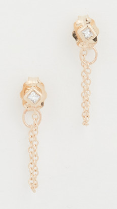 Zoë Chicco 14k Gold Princess Diamonds Chain Earrings