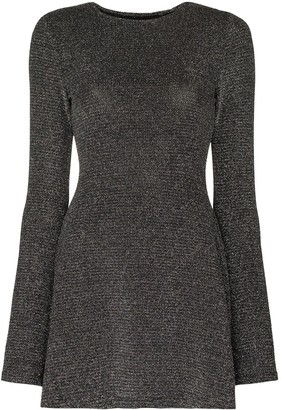 Reformation Riley lurex knit dress