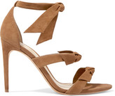 Alexandre Birman Lolita Bow-embellished Suede Sandals - Tan