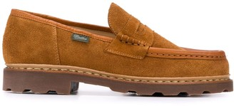 Paraboot Reims suede penny loafers