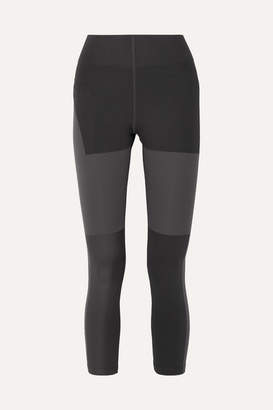 Nike Tech Pack Cropped Cutout Paneled Stretch Leggings - Black