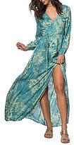 O'Neill Cambria Floral Printed Wrap Maxi Dress
