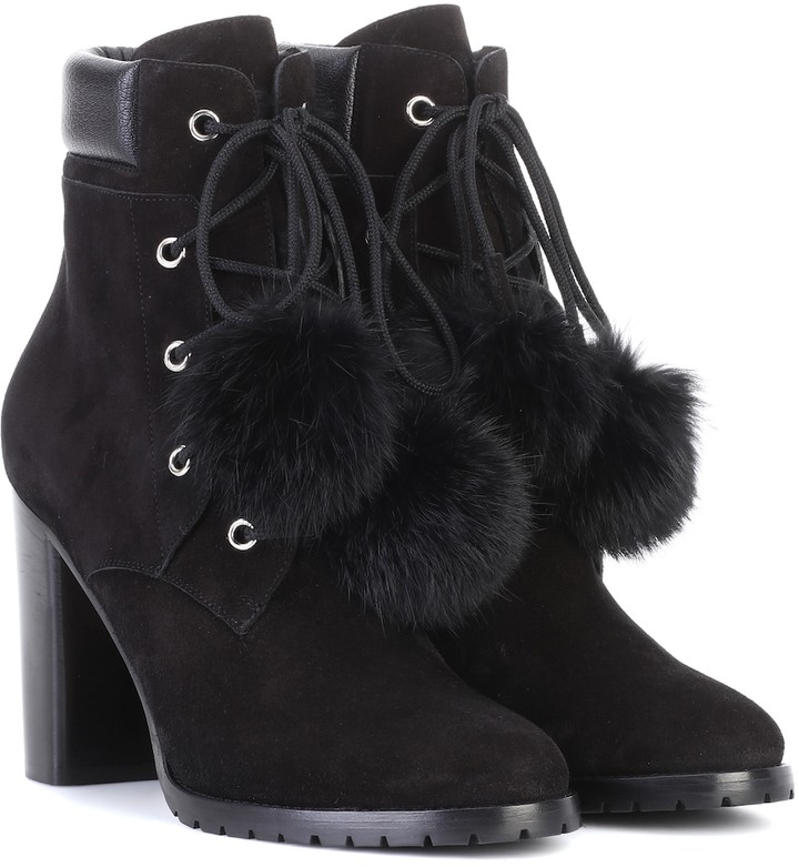 6d500e106565 Jimmy Choo Boots With Fur Lining - ShopStyle