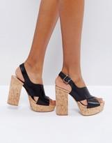 MANGO Cork Platform Sandals
