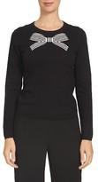CeCe Women's Bow Intarsia Sweater