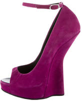 Giuseppe Zanotti Suede Heel-Less Wedges