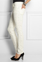 Etoile Isabel Marant Mael broderie anglaise low-rise skinny jeans