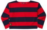 Ralph Lauren Girls' Striped Ponte Top - Sizes S-XL