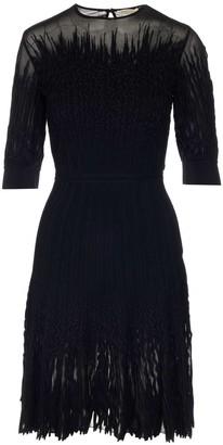 Alexander McQueen Sheer Flared Skirt Dress