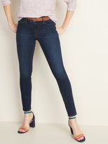 Old Navy Mid-Rise Dark-Wash Pop Icon Skinny Jeans for Women