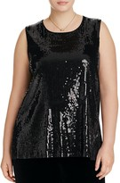 VINCE CAMUTO Plus Sleeveless Sequin Top