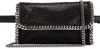 Stella McCartney Flap Falabella Belt Bag in Black | FWRD