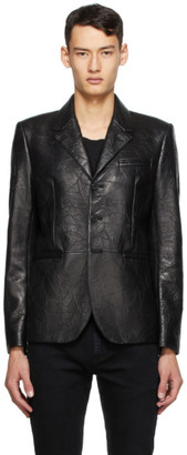 Saint Laurent Black Leather Blazer