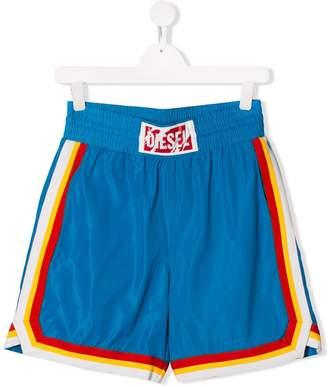 Diesel striped trim shorts