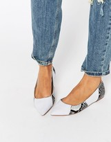 Asos LIVELY Patchwork Pointed Ballet Flats