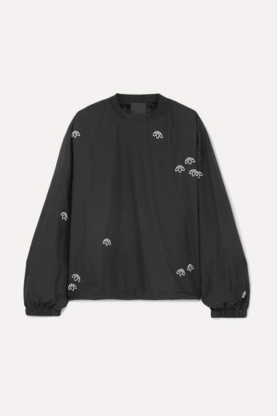 23331bbf7f9 By Alexander Wang - Embroidered Shell Sweatshirt - Black