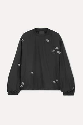 adidas By Alexander Wang By Alexander Wang - Embroidered Shell Sweatshirt - Black