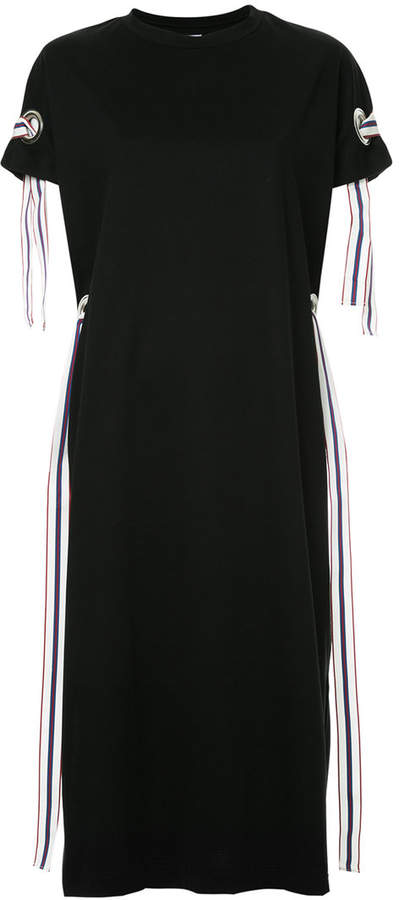 Miharayasuhiro line tape T-shirt dress
