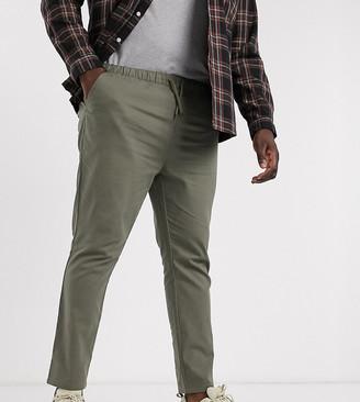 Asos DESIGN Plus skinny chinos with elastic waist in khaki