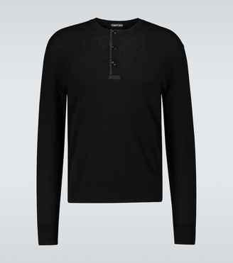 Tom Ford Long-sleeved ribbed Henley T-shirt