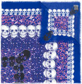 Zadig & Voltaire skull print frayed scarf