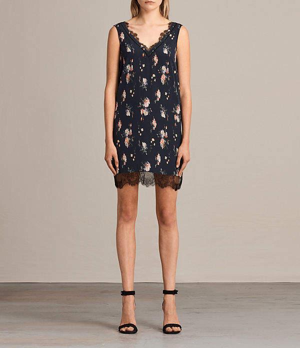AllSaints Camia Meadow Silk Dress