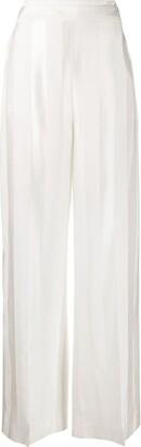 Victoria Victoria Beckham Striped Wide-Leg Trousers