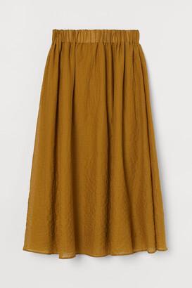 H&M Bell-shaped pima cotton skirt