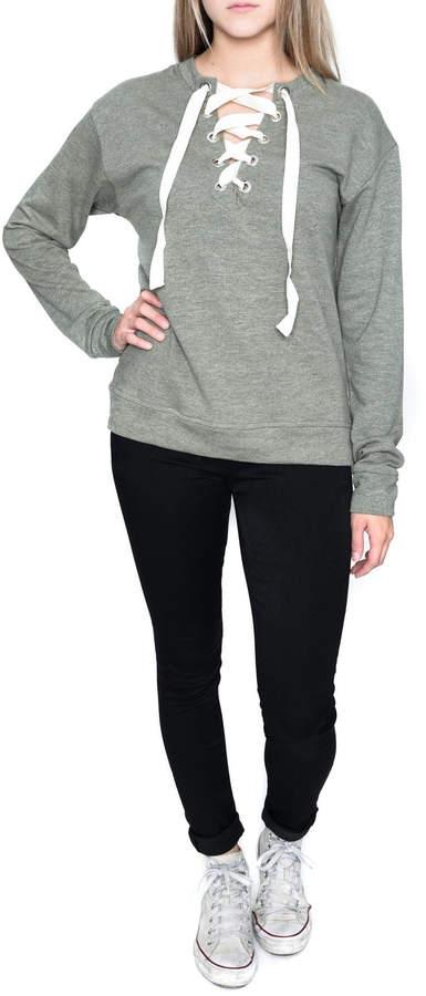 Elan International Lace Up Sweatshirt