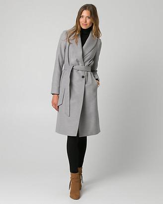 Le Château Cashmere-Like Shawl Collar Wrap Coat